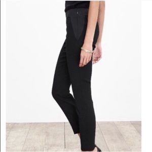 Banana Republic Black Jacquard Slim Ankle Pants